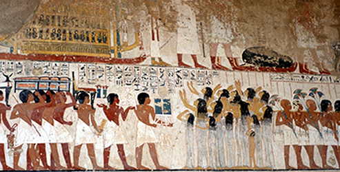Ancient Egypt: Tomb of Ramos - Funeral Procession